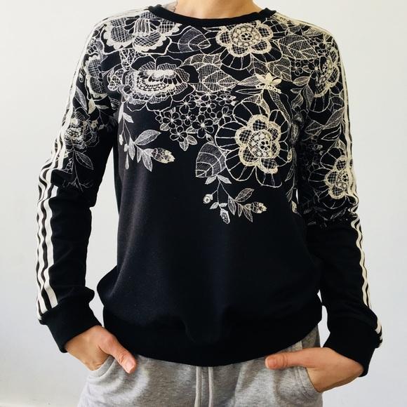 beaf8a7e5e62 adidas Tops - ADIDAS Farm Floral Placement Print Sweatshirt SM